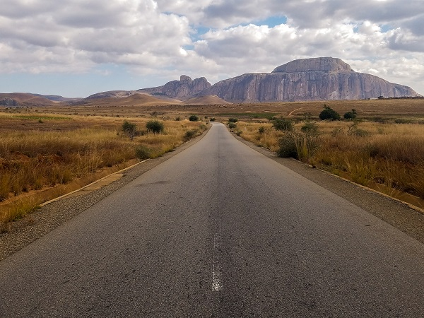 Driving to Isalo in Madagascar